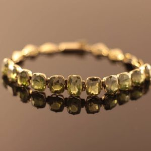 Shop Green Tourmaline Jewelry! Antique 7.80ct Green Tourmaline Tennis Bracelet | Natural genuine Green Tourmaline jewelry. Buy crystal jewelry, handmade handcrafted artisan jewelry for women.  Unique handmade gift ideas. #jewelry #beadedjewelry #beadedjewelry #gift #shopping #handmadejewelry #fashion #style #product #jewelry #affiliate #ad