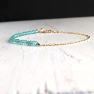 Shop Apatite Bracelets! Apatite Bracelet Faceted Gemstone Bracelet 14k Gold Filled Gemstone Bracelet | Natural genuine Apatite bracelets. Buy crystal jewelry, handmade handcrafted artisan jewelry for women.  Unique handmade gift ideas. #jewelry #beadedbracelets #beadedjewelry #gift #shopping #handmadejewelry #fashion #style #product #bracelets #affiliate #ad
