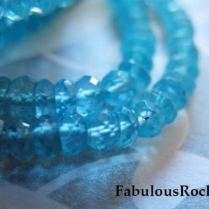 Shop Apatite Beads! 1/2 Strand – APATITE Beads Rondelles Gemstones Gems, Caribbean Apatite Roundell – Luxe AAA, 3 mm, Faceted – Aqua Blue bridal brides 34 solo | Natural genuine beads Apatite beads for beading and jewelry making.  #jewelry #beads #beadedjewelry #diyjewelry #jewelrymaking #beadstore #beading #affiliate #ad