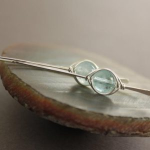 Shop Aquamarine Jewelry! Sterling silver threader earrings, Aquamarine earrings, Gemstone earrings, Minimalist earrings, Simple earrings – ER001 | Natural genuine Aquamarine jewelry. Buy crystal jewelry, handmade handcrafted artisan jewelry for women.  Unique handmade gift ideas. #jewelry #beadedjewelry #beadedjewelry #gift #shopping #handmadejewelry #fashion #style #product #jewelry #affiliate #ad