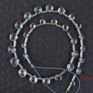 Shop Aquamarine Bead Shapes! Best Quality 28 Pieces Natural Aquamarine Faceted Heart Shape Beads, 4-7 MM,Aquamarine Gemstone, Gift For Her,Making Jewelry,Wholesale Price   Natural genuine other-shape Aquamarine beads for beading and jewelry making.  #jewelry #beads #beadedjewelry #diyjewelry #jewelrymaking #beadstore #beading #affiliate #ad