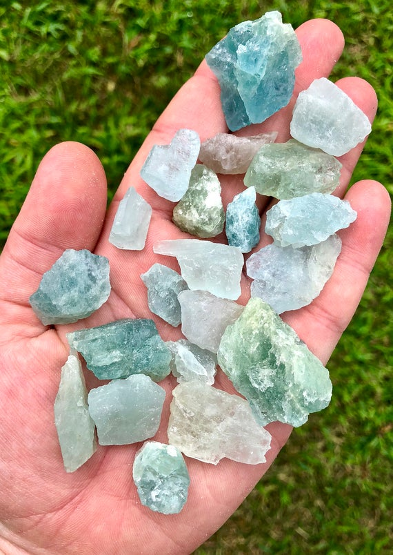 Raw Aquamarine Crystal - Raw Aquamarine Stone - Aquamarine Raw - Healing Crystals And Stones - Raw Aquamarine - Throat Chakra Crystals