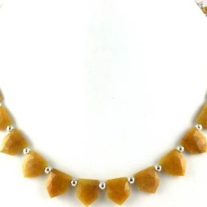 Shop Aventurine Faceted Beads! Best Quality 1 Strand Natural Yellow Aventurine Pentagon Shape Faceted 11×14-12x15mm Approx,Strand,Aventurine Beads,Natural Aventurine,Sale   Natural genuine faceted Aventurine beads for beading and jewelry making.  #jewelry #beads #beadedjewelry #diyjewelry #jewelrymaking #beadstore #beading #affiliate #ad