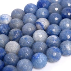Shop Aventurine Faceted Beads! Natural Blue Aventurine Loose Beads Micro Faceted Round Shape 6mm 8mm 10mm | Natural genuine faceted Aventurine beads for beading and jewelry making.  #jewelry #beads #beadedjewelry #diyjewelry #jewelrymaking #beadstore #beading #affiliate #ad