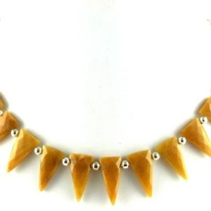Shop Aventurine Bead Shapes! Best Quality 1 Strand Natural Yellow Aventurine Triangle Shape Faceted 10×22-11x22mm Approx,Strand,Aventurine Beads,Natural Aventurine,Sale | Natural genuine other-shape Aventurine beads for beading and jewelry making.  #jewelry #beads #beadedjewelry #diyjewelry #jewelrymaking #beadstore #beading #affiliate #ad