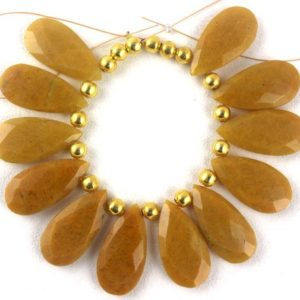 Shop Aventurine Bead Shapes! Best Quality 1 Strand Natural Yellow Aventurine Pear Shape Faceted 12×25.5-13x26mm Approx,Strand,Aventurine Beads,Natural Aventurine,Faceted | Natural genuine other-shape Aventurine beads for beading and jewelry making.  #jewelry #beads #beadedjewelry #diyjewelry #jewelrymaking #beadstore #beading #affiliate #ad