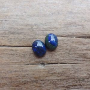Shop Azurite Cabochons! Pair Azurite Malachite cabochons 8x5mm | Natural genuine stones & crystals in various shapes & sizes. Buy raw cut, tumbled, or polished gemstones for making jewelry or crystal healing energy vibration raising reiki stones. #crystals #gemstones #crystalhealing #crystalsandgemstones #energyhealing #affiliate #ad