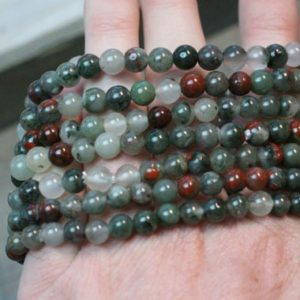 African Bloodstone Stretchy String 6 mm Round Bead Bracelet G71 | Natural genuine Bloodstone bracelets. Buy crystal jewelry, handmade handcrafted artisan jewelry for women.  Unique handmade gift ideas. #jewelry #beadedbracelets #beadedjewelry #gift #shopping #handmadejewelry #fashion #style #product #bracelets #affiliate #ad
