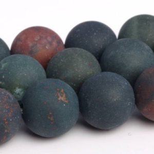 Shop Bloodstone Beads! Matte Dark Green Blood Stone Beads Grade AAA Genuine Natural Gemstone Round Loose Beads 4/6/8/10MM Bulk Lot Options | Natural genuine round Bloodstone beads for beading and jewelry making.  #jewelry #beads #beadedjewelry #diyjewelry #jewelrymaking #beadstore #beading #affiliate #ad