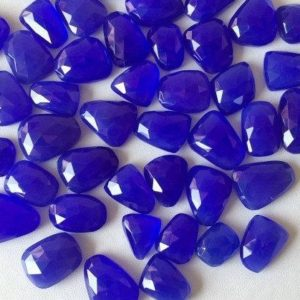 Shop Blue Chalcedony Stones & Crystals! 12-18mm Blue Chalcedony Rose Cut Flat Cabochons, Blue Chalcedony Faceted Cabochon, Blue Chalcedony Gemstones (5pcs To 10pcs Options) | Natural genuine stones & crystals in various shapes & sizes. Buy raw cut, tumbled, or polished gemstones for making jewelry or crystal healing energy vibration raising reiki stones. #crystals #gemstones #crystalhealing #crystalsandgemstones #energyhealing #affiliate #ad