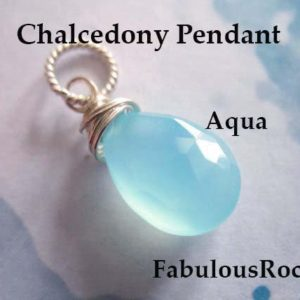 Shop Blue Chalcedony Jewelry! AQUA BLUE CHALCEDONY Charm Pendant Add a Dangle Drop / Gift Under 10 for Her / 20-22 mm, Gold Fill or Sterling Silver /   fdv1.v3 solo gd | Natural genuine Blue Chalcedony jewelry. Buy crystal jewelry, handmade handcrafted artisan jewelry for women.  Unique handmade gift ideas. #jewelry #beadedjewelry #beadedjewelry #gift #shopping #handmadejewelry #fashion #style #product #jewelry #affiliate #ad