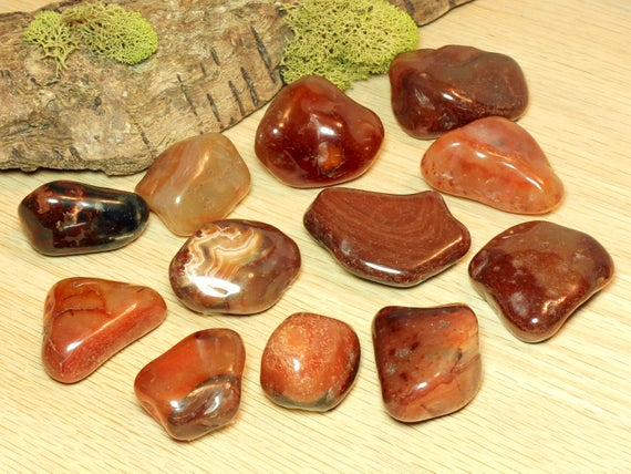 Carnelian Natural Orange Brown Tumbled Pocket Stone Base Chakra Crystal Healing Creativity Harmony Courage Happiness Self-esteem 51065