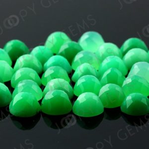 Chrysoprase Rose Cut Cabochon 8mm Round – 1 cab | Natural genuine stones & crystals in various shapes & sizes. Buy raw cut, tumbled, or polished gemstones for making jewelry or crystal healing energy vibration raising reiki stones. #crystals #gemstones #crystalhealing #crystalsandgemstones #energyhealing #affiliate #ad