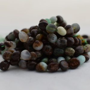 "Shop Chrysoprase Chip & Nugget Beads! High Quality Grade A Natural Chrysoprase Semi-precious Gemstone Pebble Tumbled stone Nugget Beads approx 7mm-10mm – 15"" strand 