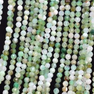 Shop Chrysoprase Faceted Beads! Genuine Natural Multicolor Chrysoprase / Australian Jade Loose Beads Faceted Round Shape 2mm | Natural genuine faceted Chrysoprase beads for beading and jewelry making.  #jewelry #beads #beadedjewelry #diyjewelry #jewelrymaking #beadstore #beading #affiliate #ad