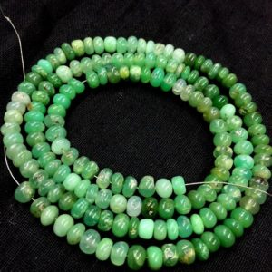 Shop Chrysoprase Beads! Natural Chrysoprase Smooth Rondelle Beads 5mm Chrysoprase Gemstone Beads 19 Inch Strand Plain Rondelle Beads | Natural genuine beads Chrysoprase beads for beading and jewelry making.  #jewelry #beads #beadedjewelry #diyjewelry #jewelrymaking #beadstore #beading #affiliate #ad