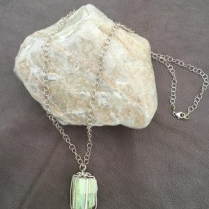 Shop Green Tourmaline Pendants! Chunky Green Tourmaline Pendant Necklace | Natural genuine Green Tourmaline pendants. Buy crystal jewelry, handmade handcrafted artisan jewelry for women.  Unique handmade gift ideas. #jewelry #beadedpendants #beadedjewelry #gift #shopping #handmadejewelry #fashion #style #product #pendants #affiliate #ad