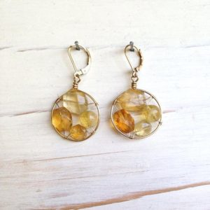 Shop Citrine Earrings! Citrine Earrings Citrine Frame Earrings Citrine Jewelry Gemstone Jewelry | Natural genuine Citrine earrings. Buy crystal jewelry, handmade handcrafted artisan jewelry for women.  Unique handmade gift ideas. #jewelry #beadedearrings #beadedjewelry #gift #shopping #handmadejewelry #fashion #style #product #earrings #affiliate #ad