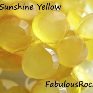 2-20 pcs / CHALCEDONY Gems Beads Briolettes, Faceted Hearts / AAA, 10.5-12 mm, Large, Sunshine Citrine Yellow, November Birthstone bgg solo | Natural genuine beads Array beads for beading and jewelry making.  #jewelry #beads #beadedjewelry #diyjewelry #jewelrymaking #beadstore #beading #affiliate #ad