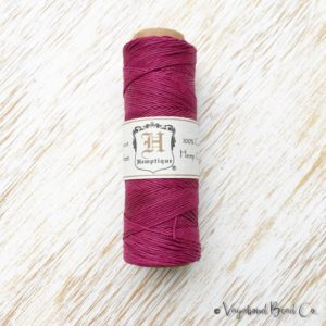 Shop Hemp Twine! Dark Pink Hemp, Premium Quality Micro Hemp Cord .5mm / #10 / 205ft, Pink Hemp Jewelry Cord, Macrame Jewelry String, Hemp Twine (HC065) | Shop jewelry making and beading supplies, tools & findings for DIY jewelry making and crafts. #jewelrymaking #diyjewelry #jewelrycrafts #jewelrysupplies #beading #affiliate #ad