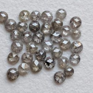 Shop Diamond Cabochons! 1.5-2mm Rose Cut Diamond, 35 Pcs Natural Salt And Pepper Round Rose Cut Diamond, Flat Back Diamond Cabochon, Rose Cut Diamond Jewelry-PPD546 | Natural genuine stones & crystals in various shapes & sizes. Buy raw cut, tumbled, or polished gemstones for making jewelry or crystal healing energy vibration raising reiki stones. #crystals #gemstones #crystalhealing #crystalsandgemstones #energyhealing #affiliate #ad
