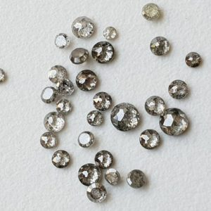 Shop Diamond Cabochons! 2-3mm Salt And Pepper Rose Cut Diamond, Rare Natural Salt & Pepper Tamboli Diamond Cabochon, Loose Rose Cut Diamond (3 Pc To 10 Pc Option) | Natural genuine stones & crystals in various shapes & sizes. Buy raw cut, tumbled, or polished gemstones for making jewelry or crystal healing energy vibration raising reiki stones. #crystals #gemstones #crystalhealing #crystalsandgemstones #energyhealing #affiliate #ad