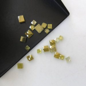 Shop Diamond Cabochons! Set Of 7 Pieces 2mm To 3.5mm Yellow Square Shaped Flat Back Rose Cut Diamond Loose, Yellow Faceted Diamond Cabochon Slices, DDS511/17 | Natural genuine stones & crystals in various shapes & sizes. Buy raw cut, tumbled, or polished gemstones for making jewelry or crystal healing energy vibration raising reiki stones. #crystals #gemstones #crystalhealing #crystalsandgemstones #energyhealing #affiliate #ad