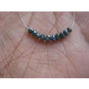 10 Beads Blue Diamonds, Faceted Diamond Beads, Conflict Free Diamonds, Approx 3mm Each | Natural genuine faceted Diamond beads for beading and jewelry making.  #jewelry #beads #beadedjewelry #diyjewelry #jewelrymaking #beadstore #beading #affiliate #ad