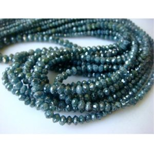 Shop Diamond Faceted Beads! Blue Diamonds – Faceted Diamond Beads – Conflict Free Diamonds – Approx 2mm To 3mm Each – 13 CTW – 8 Inch Half Strand | Natural genuine faceted Diamond beads for beading and jewelry making.  #jewelry #beads #beadedjewelry #diyjewelry #jewelrymaking #beadstore #beading #affiliate #ad