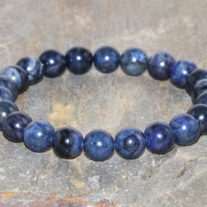 A Grade 8mm Dumortierite Bracelet, Throat Chakra Jewelry, Enhance Psychic Gifts – Speak Your Truth – Letting Go Of What No Longer Serves You | Natural genuine Gemstone bracelets. Buy crystal jewelry, handmade handcrafted artisan jewelry for women.  Unique handmade gift ideas. #jewelry #beadedbracelets #beadedjewelry #gift #shopping #handmadejewelry #fashion #style #product #bracelets #affiliate #ad