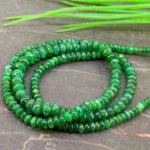 Shop Emerald Rondelle Beads! Natural Emerald 3-5.5mm Smooth Rondelle Gemstone Beads / Approx 190 Pieces On 1 Strand Of 16 Inch Lenght / Jbc-et-154563 | Natural genuine rondelle Emerald beads for beading and jewelry making.  #jewelry #beads #beadedjewelry #diyjewelry #jewelrymaking #beadstore #beading #affiliate #ad