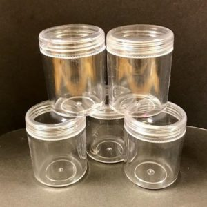 Shop Storage for Beading Supplies! Five CLEAR Screw-top BEAD CONTAINERS Many Uses | Shop jewelry making and beading supplies, tools & findings for DIY jewelry making and crafts. #jewelrymaking #diyjewelry #jewelrycrafts #jewelrysupplies #beading #affiliate #ad