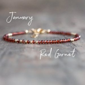 Garnet Bracelet, Gemstone Bracelet, January Birthstone Bracelet, Garnet Bead Bracelets for Women, Birthday Gifts for Her, Red Garnet Jewelry | Natural genuine Garnet bracelets. Buy crystal jewelry, handmade handcrafted artisan jewelry for women.  Unique handmade gift ideas. #jewelry #beadedbracelets #beadedjewelry #gift #shopping #handmadejewelry #fashion #style #product #bracelets #affiliate #ad