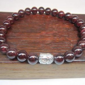 Shop Garnet Bracelets! Men's Garnet Bracelet Men's Root Chakra Garnet Bracelet Garnet Healing Bracelet Yoga Meditation Bracelet January Birthstone Garnet Capricorn | Natural genuine Garnet bracelets. Buy crystal jewelry, handmade handcrafted artisan jewelry for women.  Unique handmade gift ideas. #jewelry #beadedbracelets #beadedjewelry #gift #shopping #handmadejewelry #fashion #style #product #bracelets #affiliate #ad