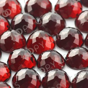 Shop Garnet Cabochons! Almandine Garnet Rose Cut Cabochon 8mm Round – 1 cab | Natural genuine stones & crystals in various shapes & sizes. Buy raw cut, tumbled, or polished gemstones for making jewelry or crystal healing energy vibration raising reiki stones. #crystals #gemstones #crystalhealing #crystalsandgemstones #energyhealing #affiliate #ad