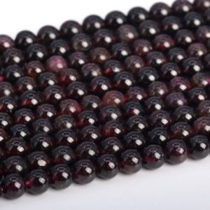 "Shop Garnet Round Beads! 5MM Wine Red Garnet Beads Brazil Grade A Genuine Natural Gemstone Full Strand Round Loose Beads 15.5"" BULK LOT 1,3,5,10 and 50 (104259-1184) 