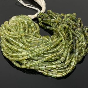 "Shop Green Tourmaline Beads! Green Tourmaline Beads, Gemstone Beads, Tourmaline Pencil Beads, Jewelry Supplies, Wholesale Beads, Bulk Beads, 13.5"" Strand 