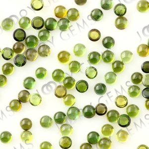 Shop Green Tourmaline Stones & Crystals! Yellow-Green Tourmaline Cabochon 3mm Round – per stone | Natural genuine stones & crystals in various shapes & sizes. Buy raw cut, tumbled, or polished gemstones for making jewelry or crystal healing energy vibration raising reiki stones. #crystals #gemstones #crystalhealing #crystalsandgemstones #energyhealing #affiliate #ad