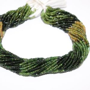 Shop Green Tourmaline Beads! Green Tourmaline Faceted Rondelle Beads   Green Tourmaline Shaded Beads   Tourmaline Rondelle beads   Wholesale Beads | Natural genuine rondelle Green Tourmaline beads for beading and jewelry making.  #jewelry #beads #beadedjewelry #diyjewelry #jewelrymaking #beadstore #beading #affiliate #ad