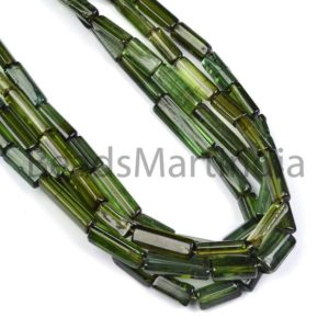 Shop Green Tourmaline Beads! Green Tourmaline Faceted Three Step Cut Beads, Green Tourmaline Step Cut Beads, Green Tourmaline Faceted Beads,Green Tourmaline Beads | Natural genuine other-shape Green Tourmaline beads for beading and jewelry making.  #jewelry #beads #beadedjewelry #diyjewelry #jewelrymaking #beadstore #beading #affiliate #ad
