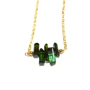 Shop Green Tourmaline Necklaces! Green Tourmaline Necklace Aqua Tourmaline Everyday Necklace Tourmaline Crystal Necklace Afghani Tourmaline Jewelry Simple Jewelry FizzCandy | Natural genuine Green Tourmaline necklaces. Buy crystal jewelry, handmade handcrafted artisan jewelry for women.  Unique handmade gift ideas. #jewelry #beadednecklaces #beadedjewelry #gift #shopping #handmadejewelry #fashion #style #product #necklaces #affiliate #ad