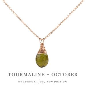Shop Green Tourmaline Jewelry! Green Tourmaline Necklace Pendant, October Birthstone, Crystal Necklace in 14K Gold Filled, Rose Gold or Sterling Silver, Gift for Women | Natural genuine Green Tourmaline jewelry. Buy crystal jewelry, handmade handcrafted artisan jewelry for women.  Unique handmade gift ideas. #jewelry #beadedjewelry #beadedjewelry #gift #shopping #handmadejewelry #fashion #style #product #jewelry #affiliate #ad