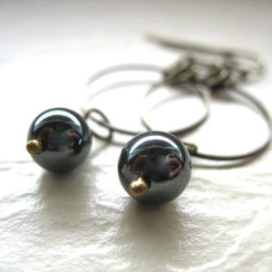 Shop Hematite Jewelry! Hematite Earrings, Hematite Stone Hoop Earrings, Handmade Earrings, Hoop Earrings, Stone Earrings, Stone Hoop Earrings, Hematite | Natural genuine Hematite jewelry. Buy crystal jewelry, handmade handcrafted artisan jewelry for women.  Unique handmade gift ideas. #jewelry #beadedjewelry #beadedjewelry #gift #shopping #handmadejewelry #fashion #style #product #jewelry #affiliate #ad