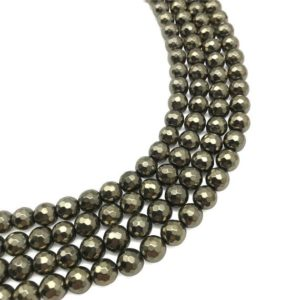 Shop Hematite Faceted Beads! 8mm Faceted Gold Hematite Beads, Hematite Gemstone, Hematite Jewelry | Natural genuine faceted Hematite beads for beading and jewelry making.  #jewelry #beads #beadedjewelry #diyjewelry #jewelrymaking #beadstore #beading #affiliate #ad