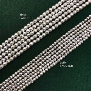 Shop Hematite Faceted Beads! SALE Natural Hematite Faceted Round Beads 3mm/4mm, Hematite Beads,Faceted 3mm Beads,Faceted 4mm Beads, Magnetic Beads, Gifts.   Natural genuine faceted Hematite beads for beading and jewelry making.  #jewelry #beads #beadedjewelry #diyjewelry #jewelrymaking #beadstore #beading #affiliate #ad