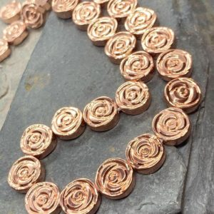 Shop Hematite Shapes! Rose Gold plated Haematite Hematite carved Roses 10 mm | Natural genuine stones & crystals in various shapes & sizes. Buy raw cut, tumbled, or polished gemstones for making jewelry or crystal healing energy vibration raising reiki stones. #crystals #gemstones #crystalhealing #crystalsandgemstones #energyhealing #affiliate #ad