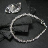 Herkimer Diamond Genuine Bracelet ~ 7 Inches ~ 5mm Crystal Beads | Natural genuine Gemstone jewelry. Buy crystal jewelry, handmade handcrafted artisan jewelry for women.  Unique handmade gift ideas. #jewelry #beadedjewelry #beadedjewelry #gift #shopping #handmadejewelry #fashion #style #product #jewelry #affiliate #ad