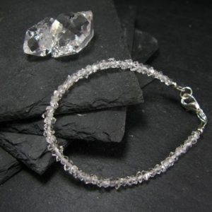 Shop Herkimer Diamond Bracelets! Herkimer Diamond Genuine Bracelet ~ 7 Inches ~ 5mm Crystal Beads | Natural genuine Herkimer Diamond bracelets. Buy crystal jewelry, handmade handcrafted artisan jewelry for women.  Unique handmade gift ideas. #jewelry #beadedbracelets #beadedjewelry #gift #shopping #handmadejewelry #fashion #style #product #bracelets #affiliate #ad