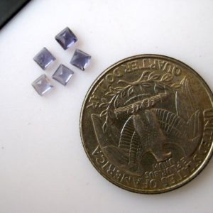 Shop Iolite Cabochons! 20 Pieces 5x5mm Each Natural Blue Iolite Princess Cut Faceted Blue Color Loose Gemstones BB99 | Natural genuine stones & crystals in various shapes & sizes. Buy raw cut, tumbled, or polished gemstones for making jewelry or crystal healing energy vibration raising reiki stones. #crystals #gemstones #crystalhealing #crystalsandgemstones #energyhealing #affiliate #ad