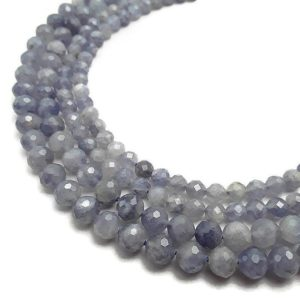 "Shop Iolite Beads! Natural Iolite Faceted Round Beads 5mm 7mm 15.5"" Strand 